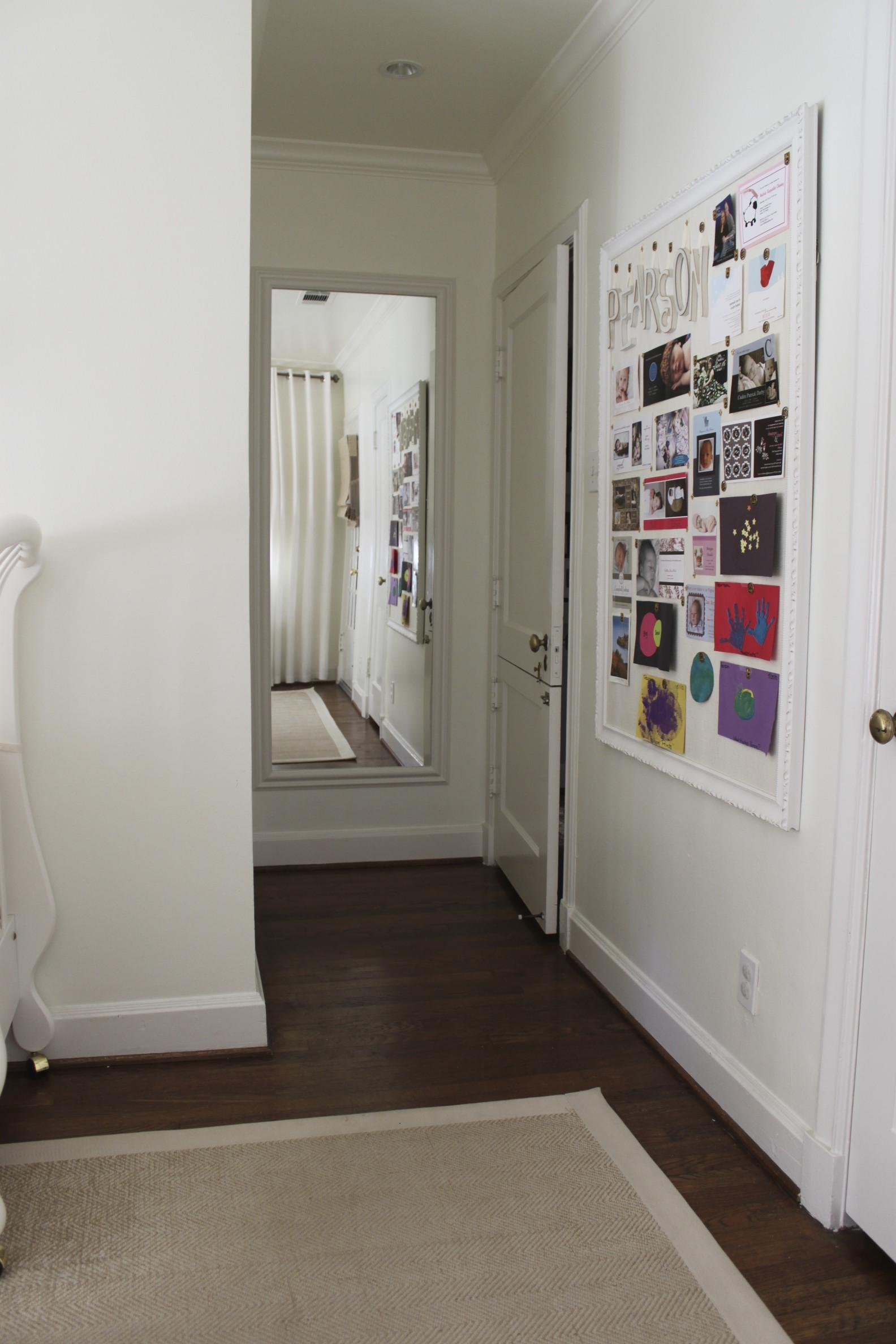 All white nursery : Great bulletin board