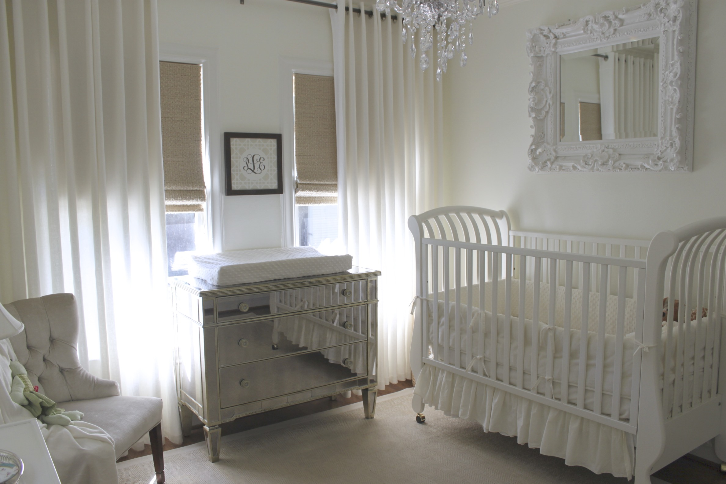 All White And Blue Delight: All White Nursery