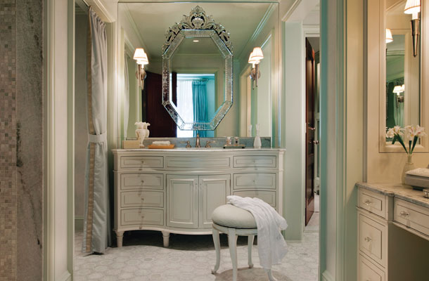 CGerald Pomeroy Interiors Beautiful Bathroom Mirrors