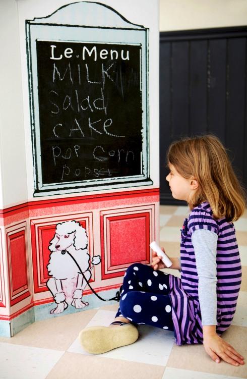 Little Play Spaces Café Chalkboard Detail
