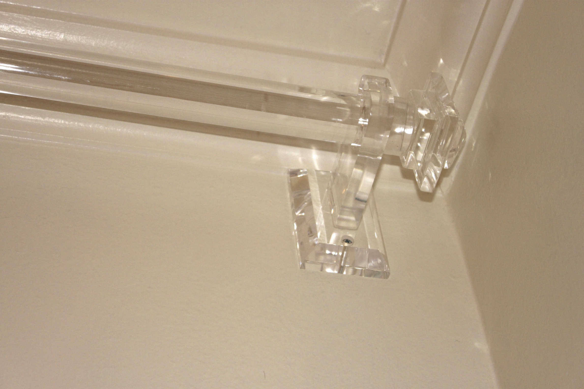 Acrylic curtain rod - Plexi Craft Acrylic Rod Finial Bracket